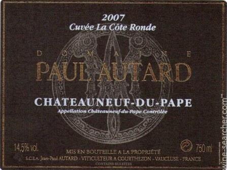 Domaine Paul Autard Chateauneuf-du-papes Rhone
